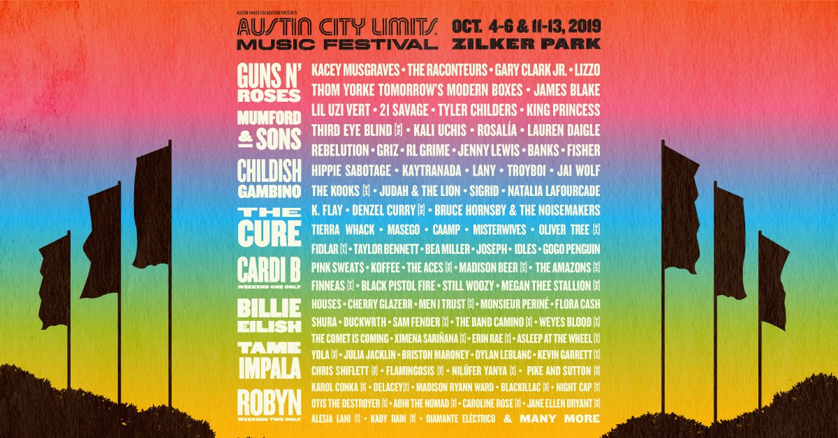 Austin City Limits Music Festival's Stacked 2019 Lineup Includes Cardi B, Billie Eilish, And Childish Gambino