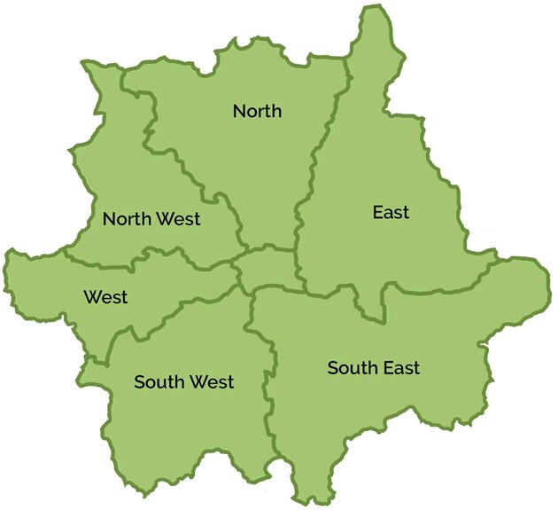 Map North West London.Donae O On Twitter There S 5 Areas In London North East South