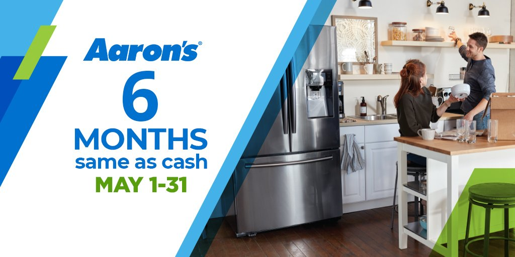 You can get 6 months Same as Cash when you get started today! Not available at all stores, call ahead for details! https://www.aarons.com/