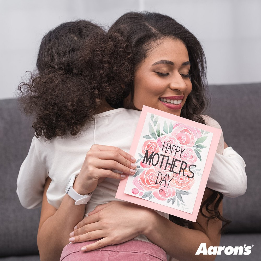 From our Aaron's family to yours, we'd like to wish you a Happy Mother's Day! #ThanksMom #MothersDay