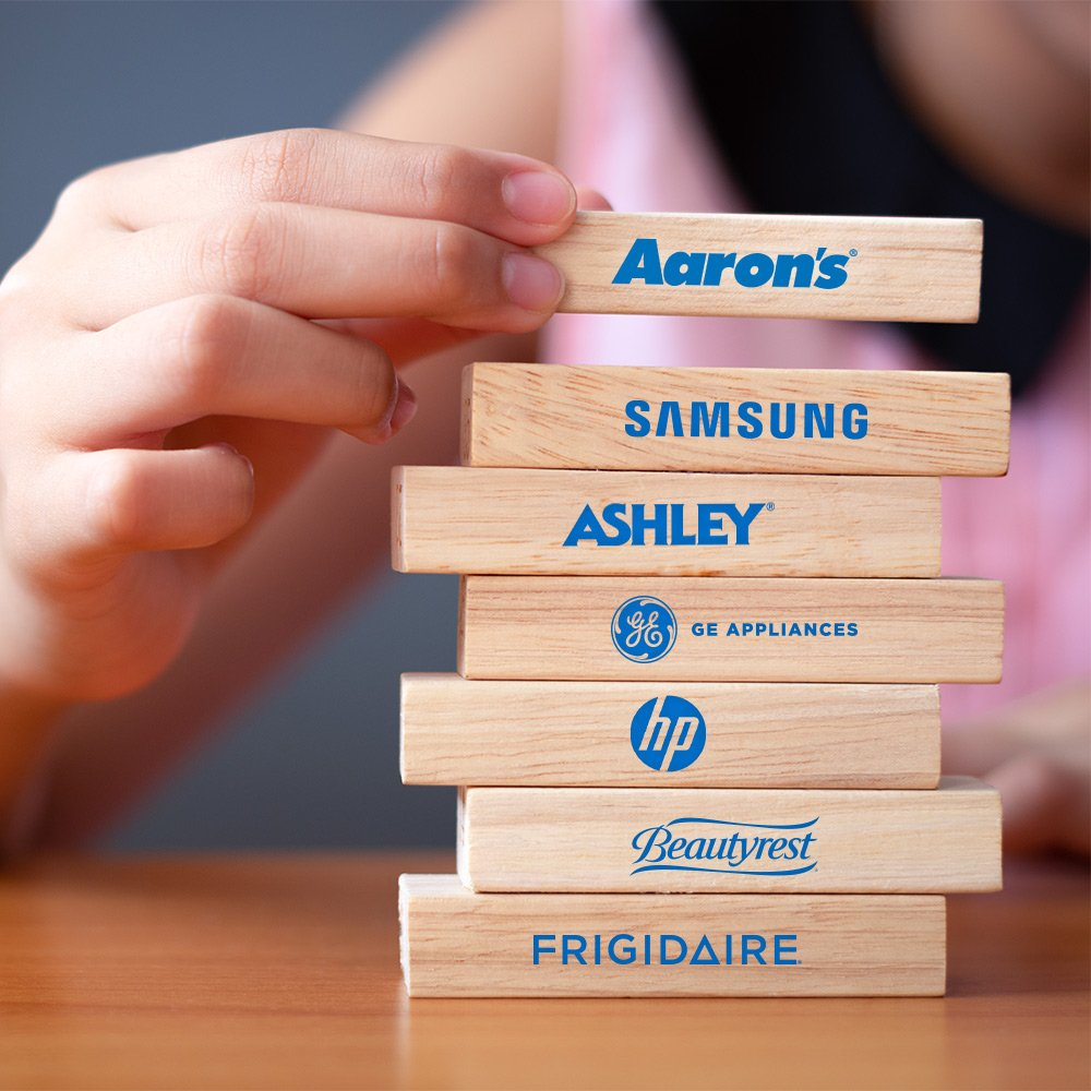 If you're in need of furniture, appliances or electronics, we carry the name brands you trust! Step into an Aaron's store today or visit http://Aarons.com to view the collections!