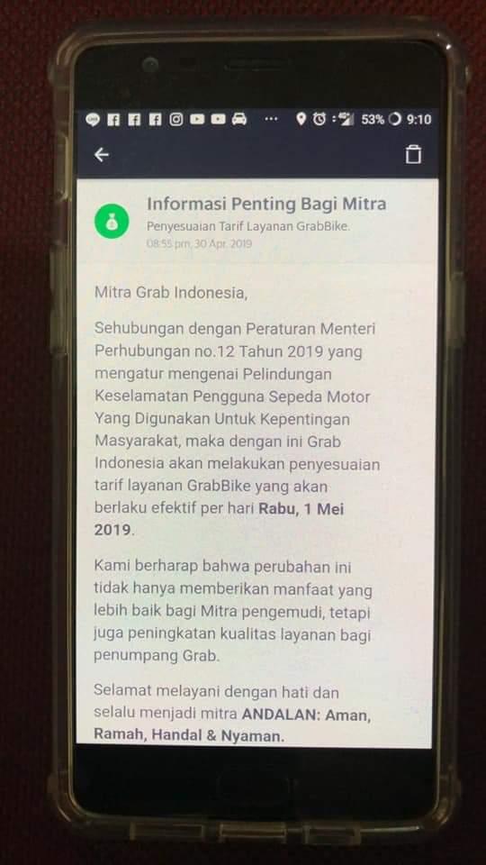 Jasa Ojek Langganan Orang Dan Barang On Twitter Grab Udah Keluarin Info Nih Tinggal Nunggu Gojek Aja Foto Dari Grup F B