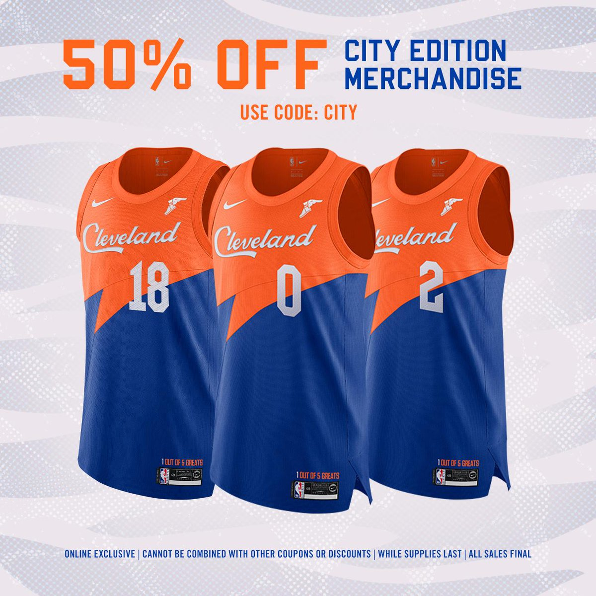 0a6cfe88a off with code  CITY at http   Cavs.com shop !  OnlineExclusiveSale Shop  early