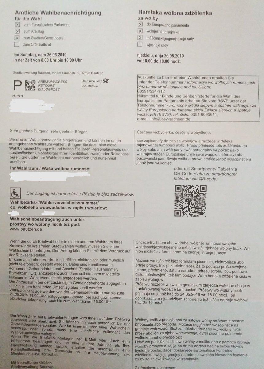 wahlbenachrichtigung europawahl 2019 nicht erhalten