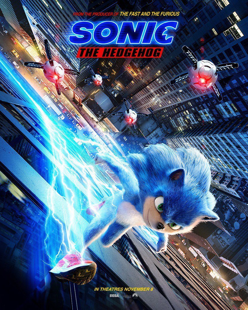 Sonic the Hedgehog movie poster on Paul Gale Network