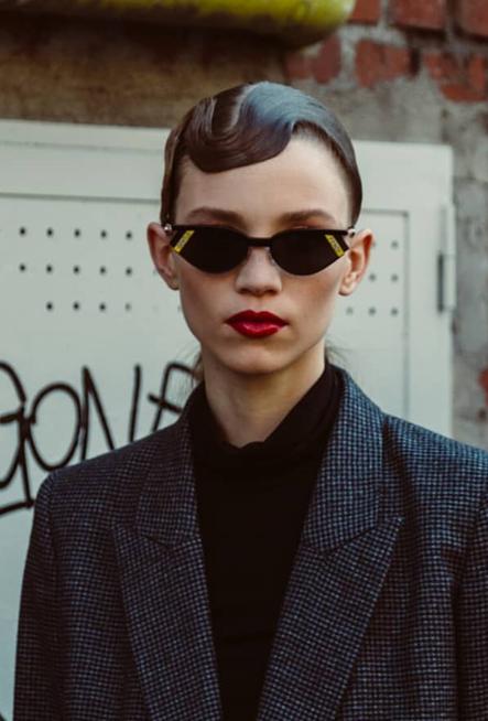 faa9daf3492a rebecca longendyke wearing the exclusive 01 sunglasses created by silvia  venturini fendi in collaboration with gentle