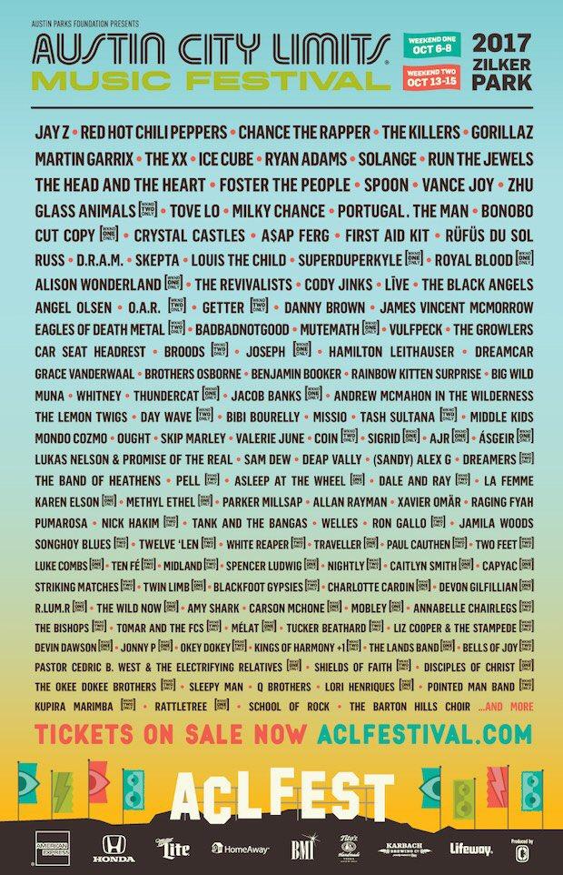 Austin Music Festival 2020.Austin City Limits Music Festival 2020 Lineup Festival
