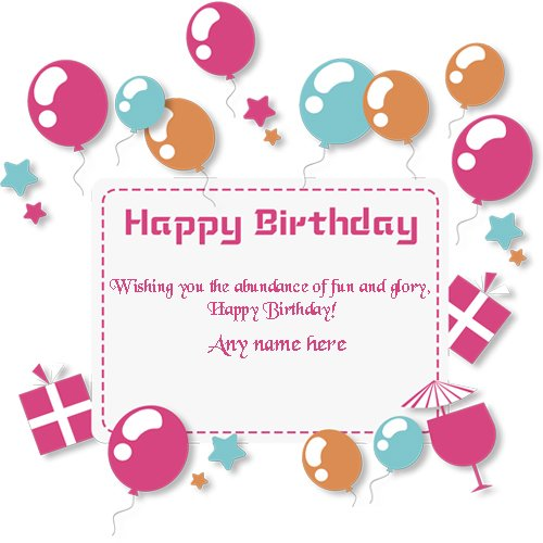 Happy Birthday Wishes Greeting Card With Name Editing Edit Online Pic