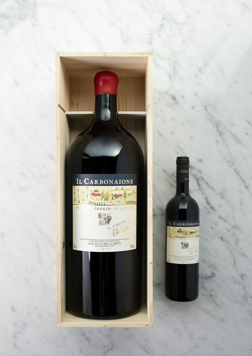 Let's raise a glass to the Fiore family of Chianti's Podere Poggio Scalette winery for this impressive Imperial bottle (that's 6 liters, or 8 standard wine bottles!) of their 2015 Il Carbonaione – available this evening only. https://t.co/XEJXelDejd