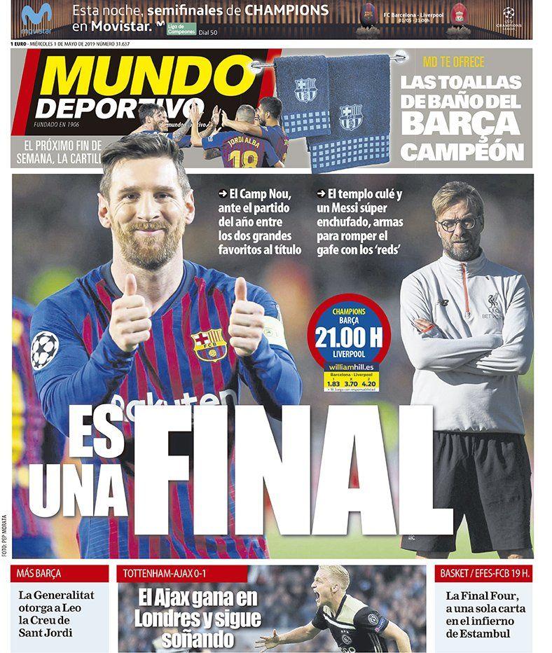 ترجمة غلاف صحيفة موندو ديبورتيفو 01-05-2019 D5b6Q0mXsAMaZDG