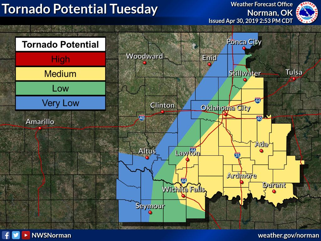 Map Of North Texas And Oklahoma.Nws Norman On Twitter 250pm Update The Severe Weather Risk Is