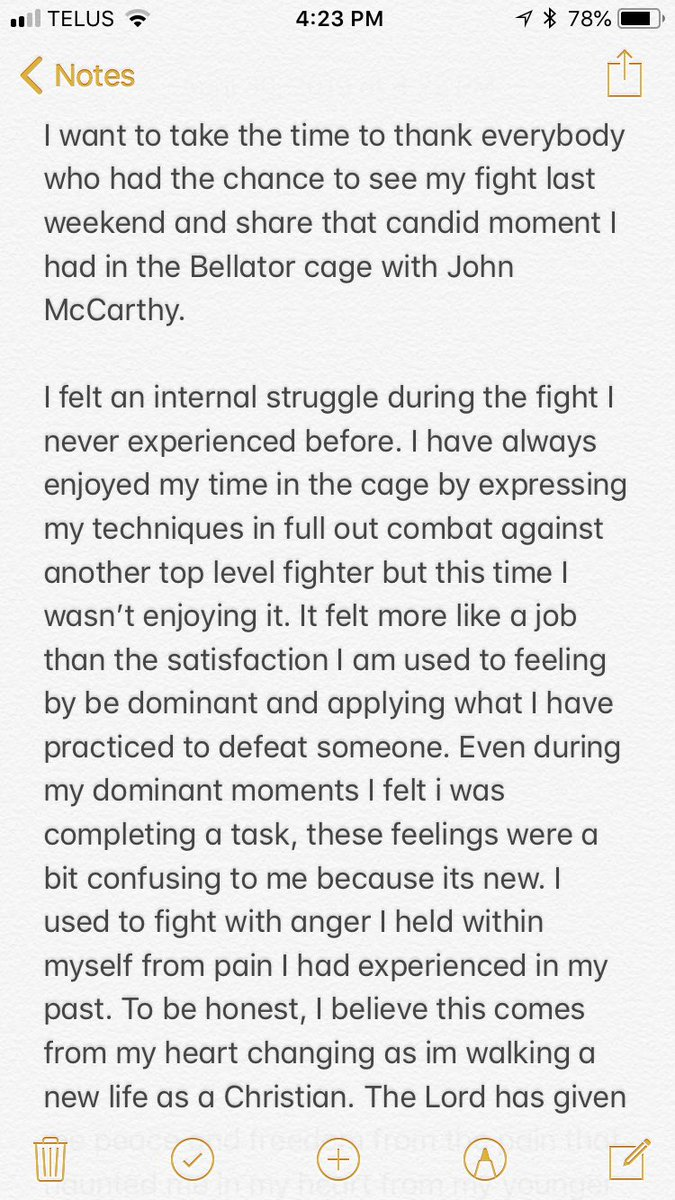 this is my statement to clarify what i said in my post fight interview on saturday