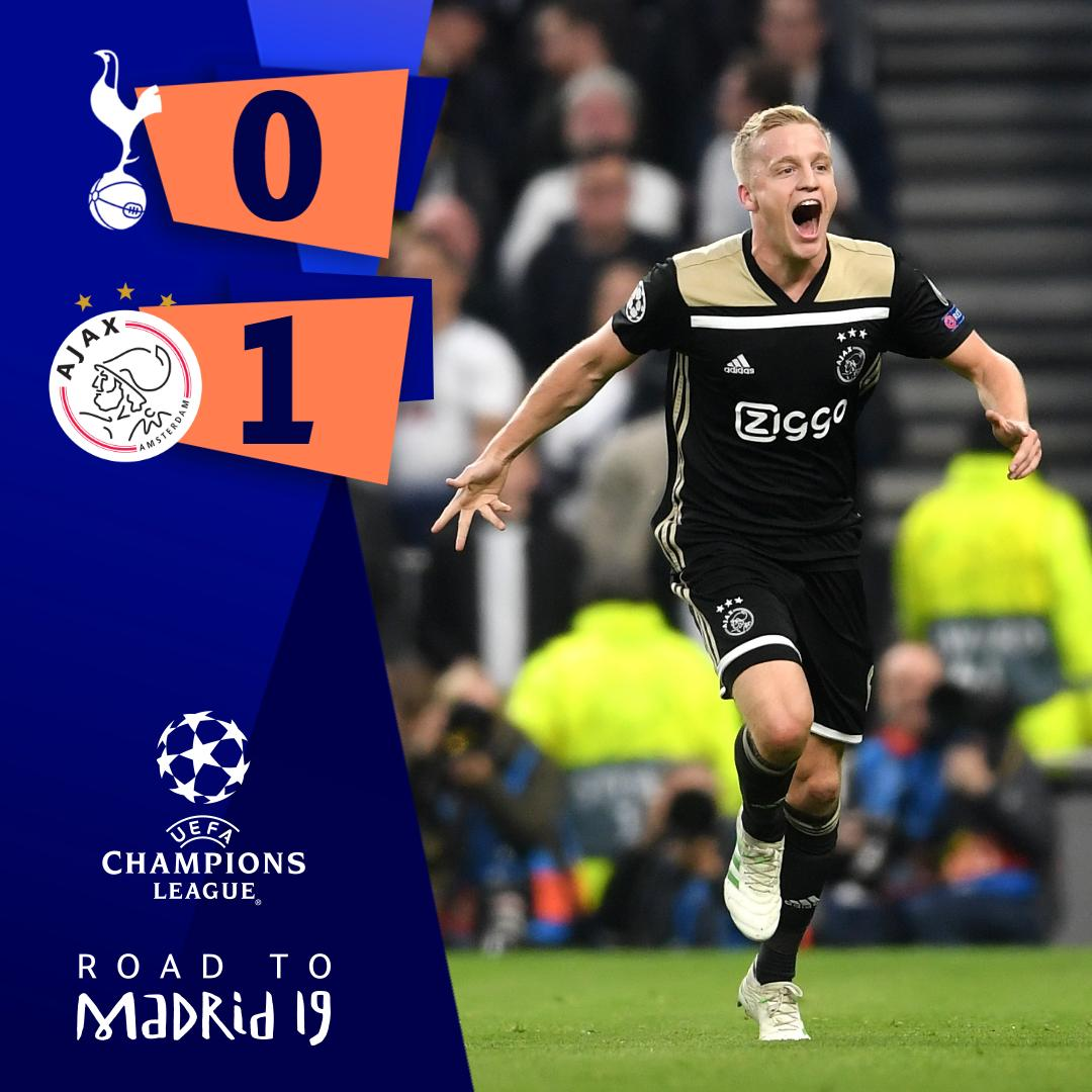 Tottenham Vs Ajax Results: Tue Apr 30 20:59:38 2019