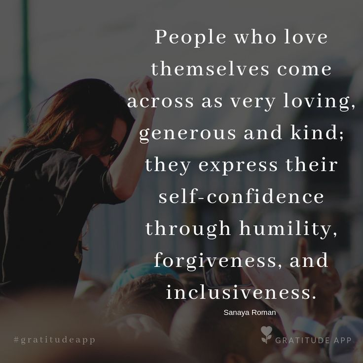 """Just Pinned: """"People who #love themselves come across as very loving, #generous and #kind; they express their self-confidence through #humility, forgiveness, and inclusiveness."""" – Sanaya Roman  #gratitudeapp #gratitude  #gratefulness #mindfulness #kindness #lifeadvancer #quot… <br>http://pic.twitter.com/gWDHsf6dcq"""