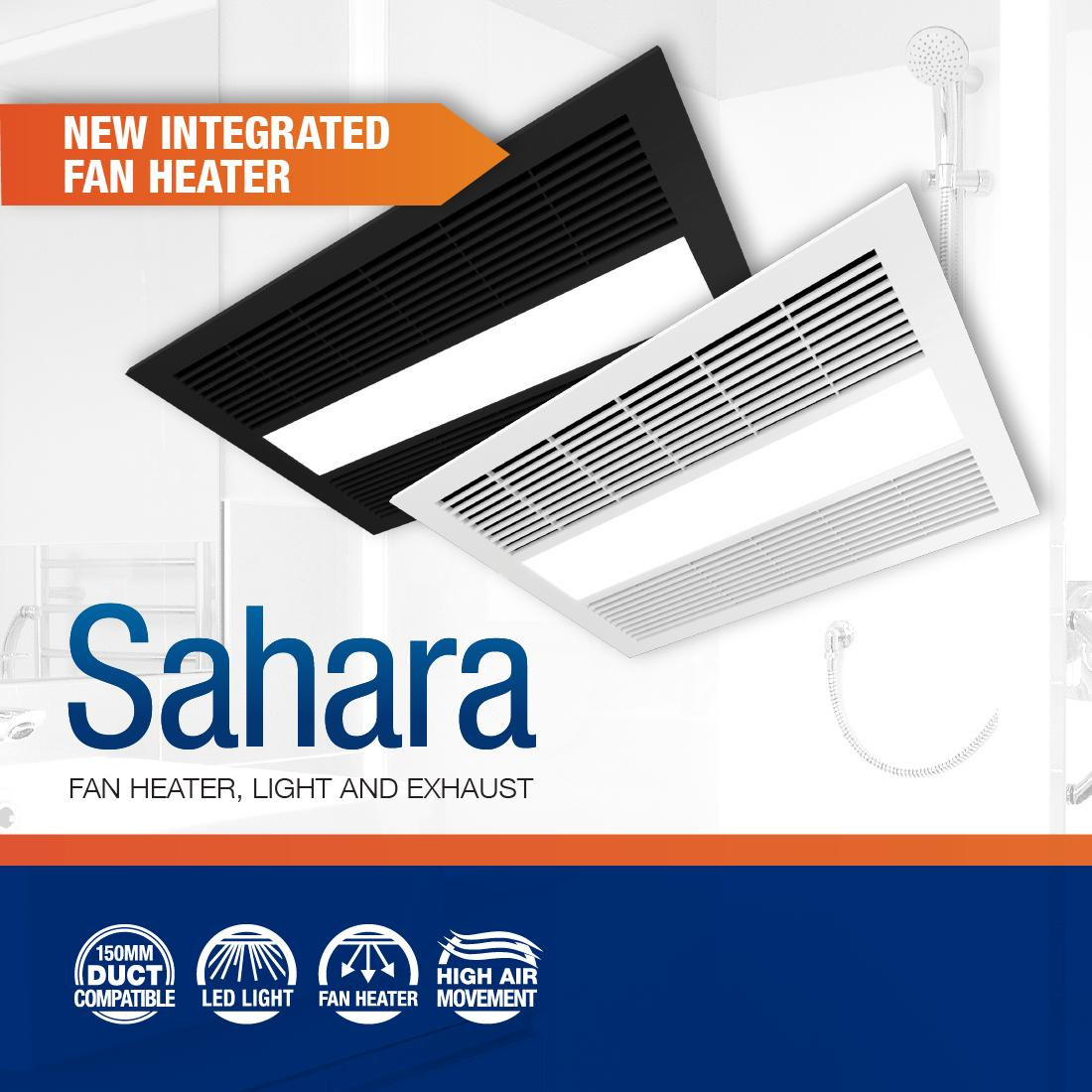 Ventair On Twitter A High Performance Bathroom Unit With Integrated Fan Heat Led Light And Exhaust This Is The New Standard For Bathrooms Across Australia Check Out The Sahara Fan Heater Here