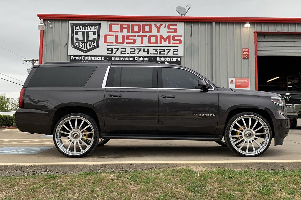 Chevy Suburban On 28s Tweet Added By Forgiato Wheels Download
