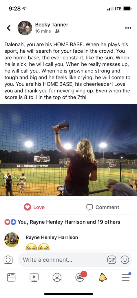 Just when you think You've got it all together and know the rules... there's no crying in baseball- my mom hits me with this- 😭being HOME BASE May be one of my best accomplishments yet ❤️⚾️