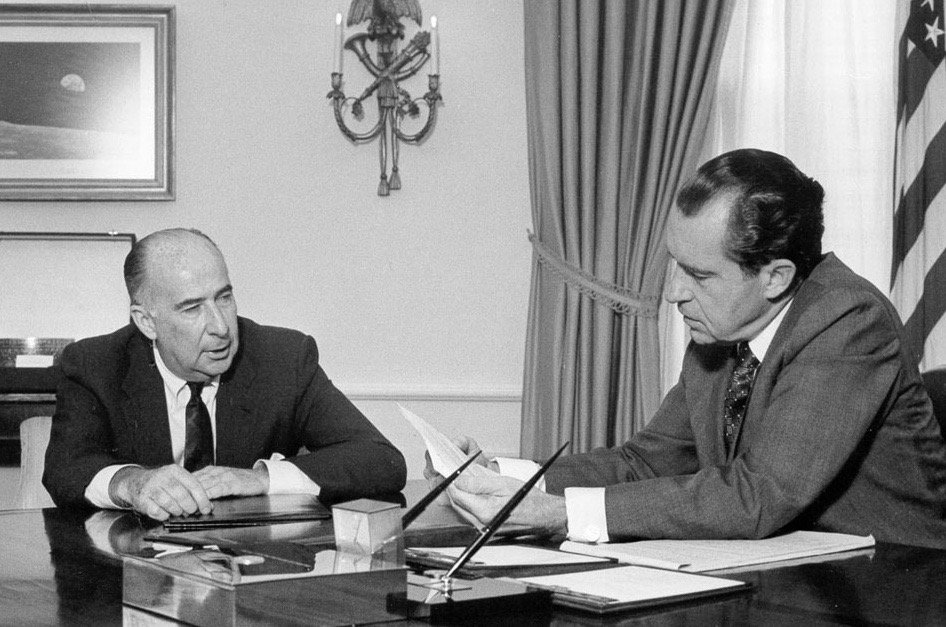 Nixon and his Attorney General and campaign manager, John Mitchell: