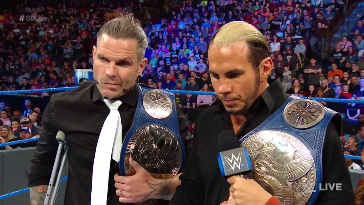 Jeff Hardy To Undergo Surgery, WWE SmackDown Tag Team Titles Vacated