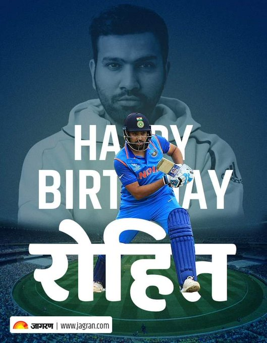 Good morning all ... Wishing happy birthday to Rohit Sharma and best wishes for world cup .