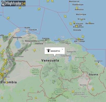 Map of Venezuelan airspace