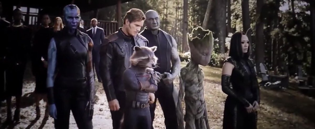 """jules on Twitter: """"ok tony's funeral is one of the saddest scenes but the fact that the guardians are there just cracks me up like...  what did aunt may think"""