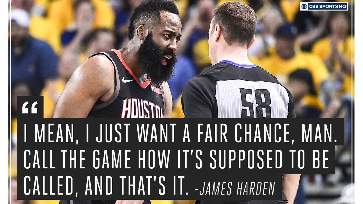 Officiating totals favor the Rockets through first two games.  Houston Rockets: • 38 personal fouls • 4 technical fouls • 54 free throw attempts  Golden State Warriors: • 45 personal fouls • 2 technical fouls • 51 free throw attempts https://t.co/zITTQhFWeN