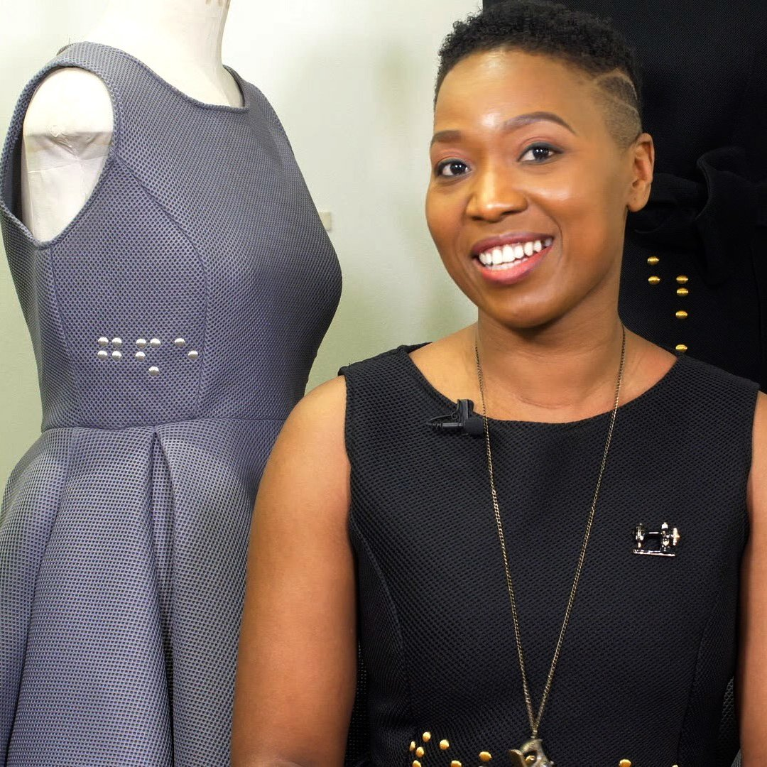 """People from the blind community need fashion that represents and celebrates them.""  Tapiwa Dingwiza shared a classroom with blind children in Zimbabwe, but says social barriers stopped her interacting with them. Now, Tapiwa wants to bridge that gap through her clothes designs."
