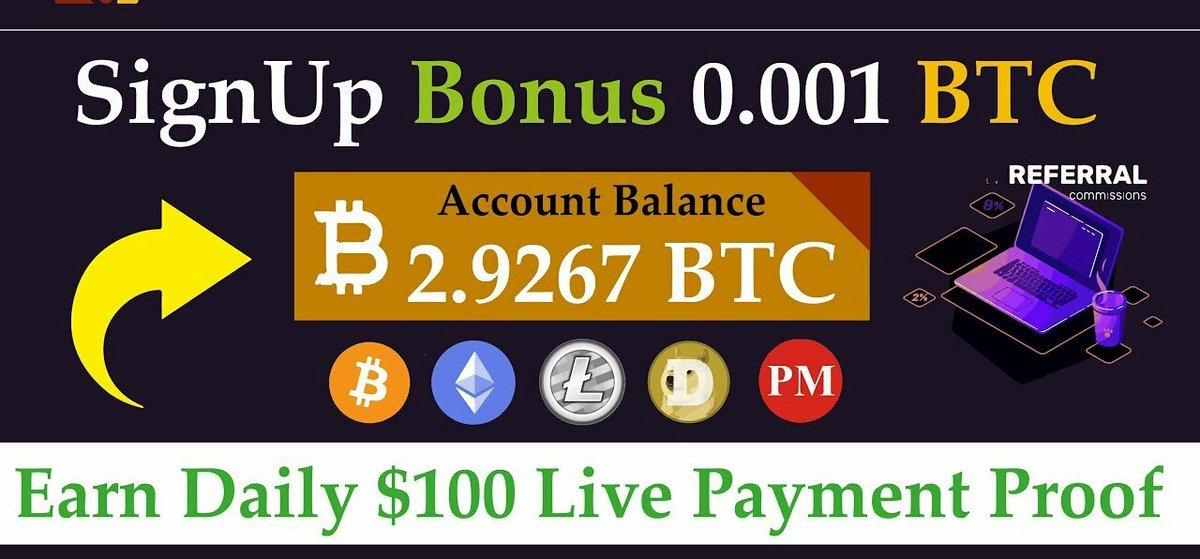 New 100% legit site  Earn free bit coin   sign-up bonus 0.001😘 New company.. payment proof  #selmining #freebitcoin #FreeMoney   https://t.co/1AIcC6XjrS https://t.co/KRnJNFfFEQ