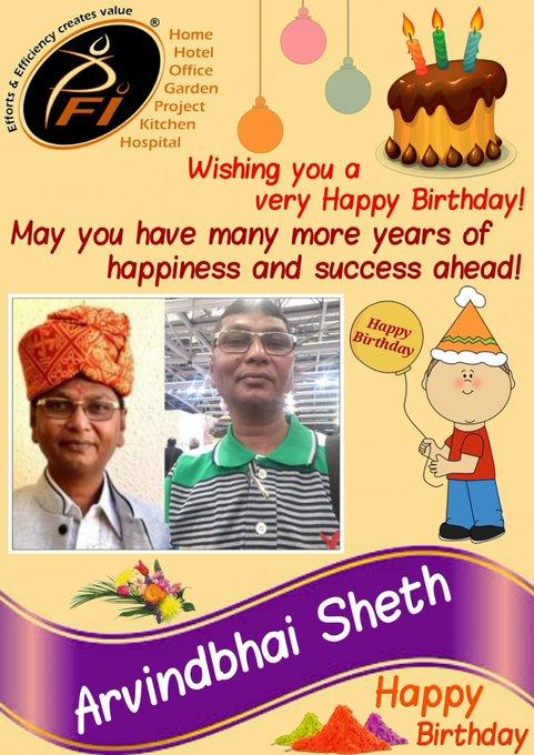Happy Birthday to you Arvind kaka...
