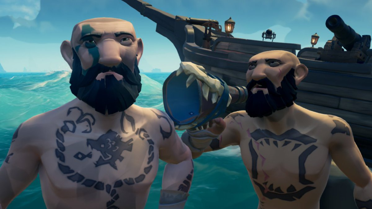 Iv been asking this guy who he is all day, identity theft isn't a joke Jim! #SeaOfThieves #BeMorePirate @SeaOfThieves @RareLtd #SoTShot #AnniversaryUpdate