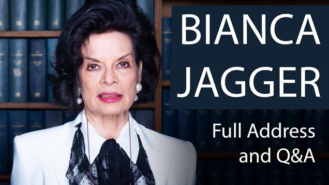 """May 2:Happy 74th birthday to human rights advocate Bianca Jagger (\""""1971-78 wife of Mick Jagger\"""")"""