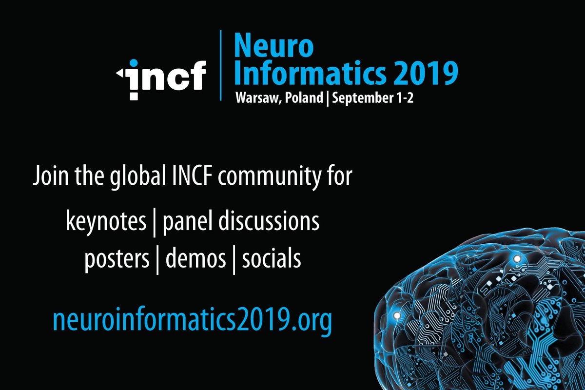 SUBMISSION DEADLINE EXTENSION TO MAY 31! Due to popular demand we are extending the abstract submission deadline for Neuroinformatics 2019 in Warsaw, Poland on Sep 1-2!  Check out the #neuroinformagical program & submit: http://neuroinformatics2019.org   #neuroscience #OpenScience