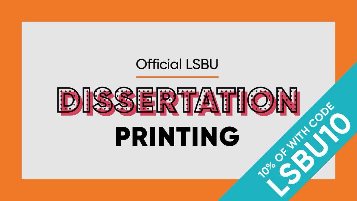 lsbu dissertation deadline