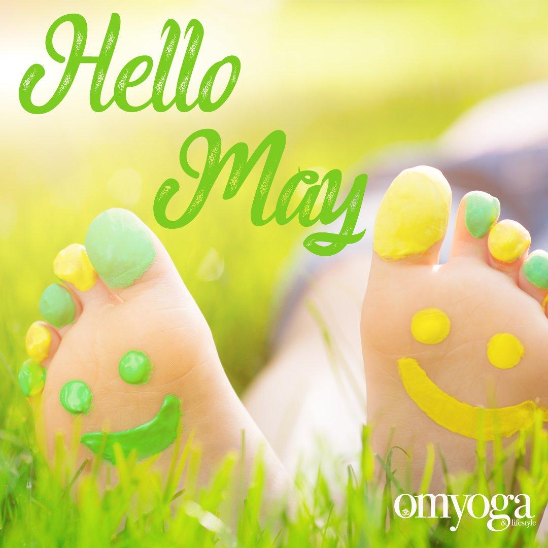 Hello May! We hope you'll bring lots of sunshine with you! #omyogamagazine #hellomay