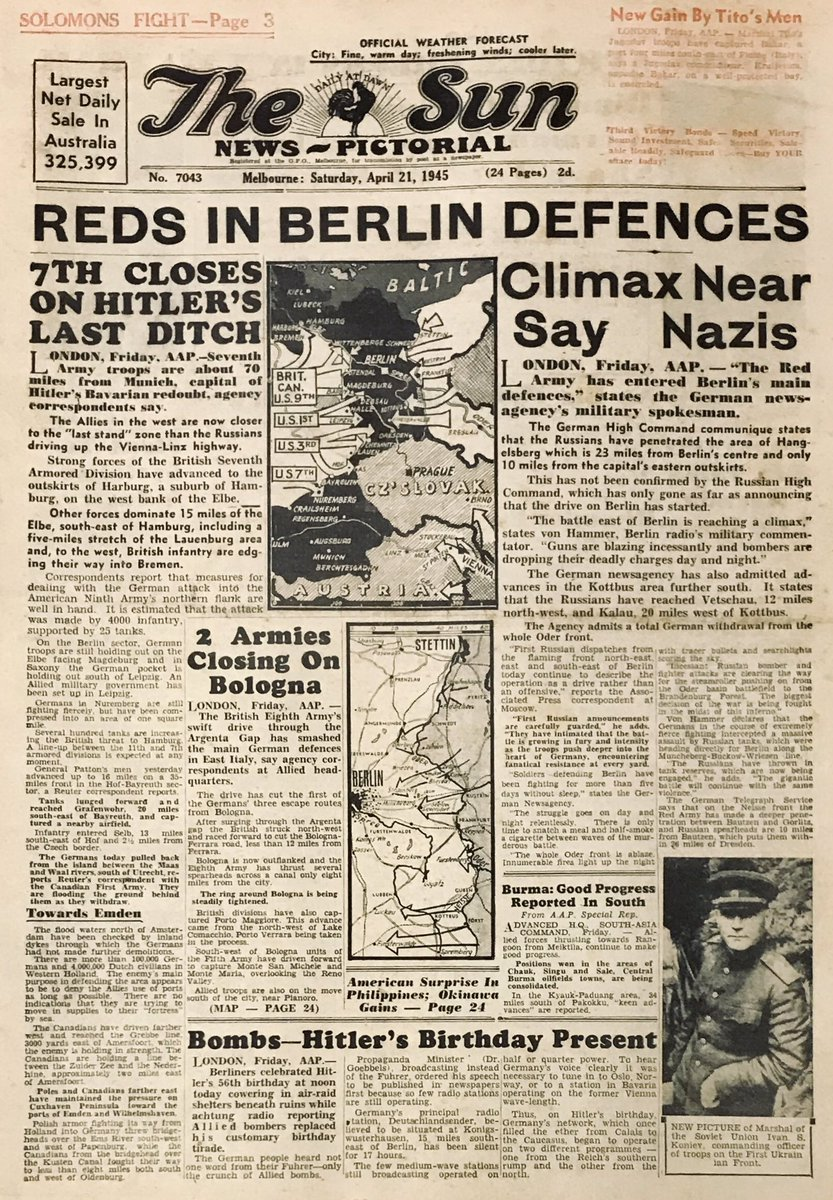 WWII Front Pages (@WW2frontpages) | Twitter