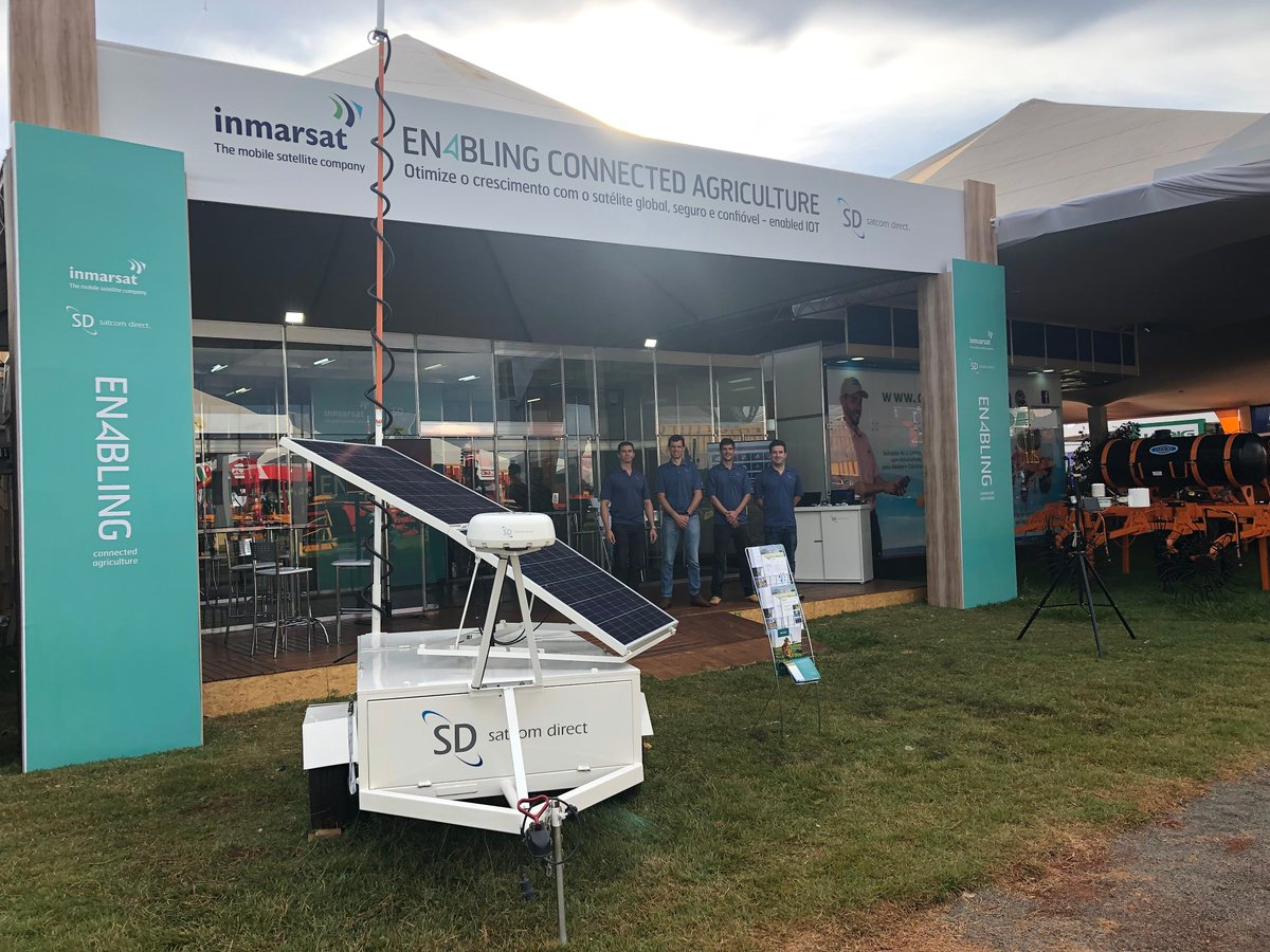 #AGRISHOW2019 Stop by to see demos of our connectivity solutions for remote locations that are integrated with telemetry, fleet management system, autopilot, applications and systems for monitoring of crops, fire monitoring, harvesting of forests &, and others. #AGRISHOW #Brazil