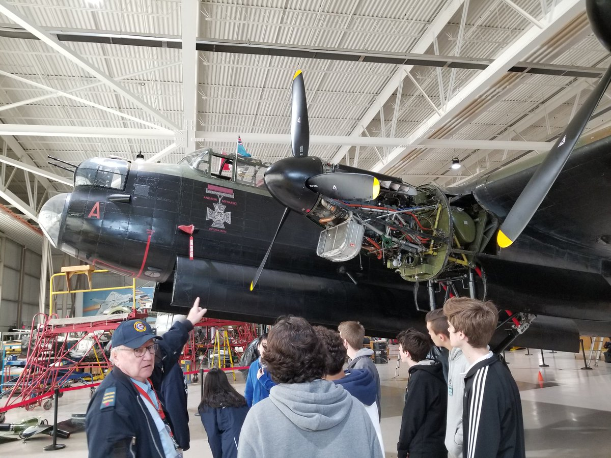 Our Grade 10 @CtKHH History students are learning so much this morning at the Canadian Heritage Warplane Museum