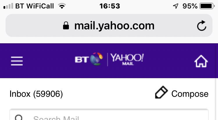 cant access my yahoo mail inbox