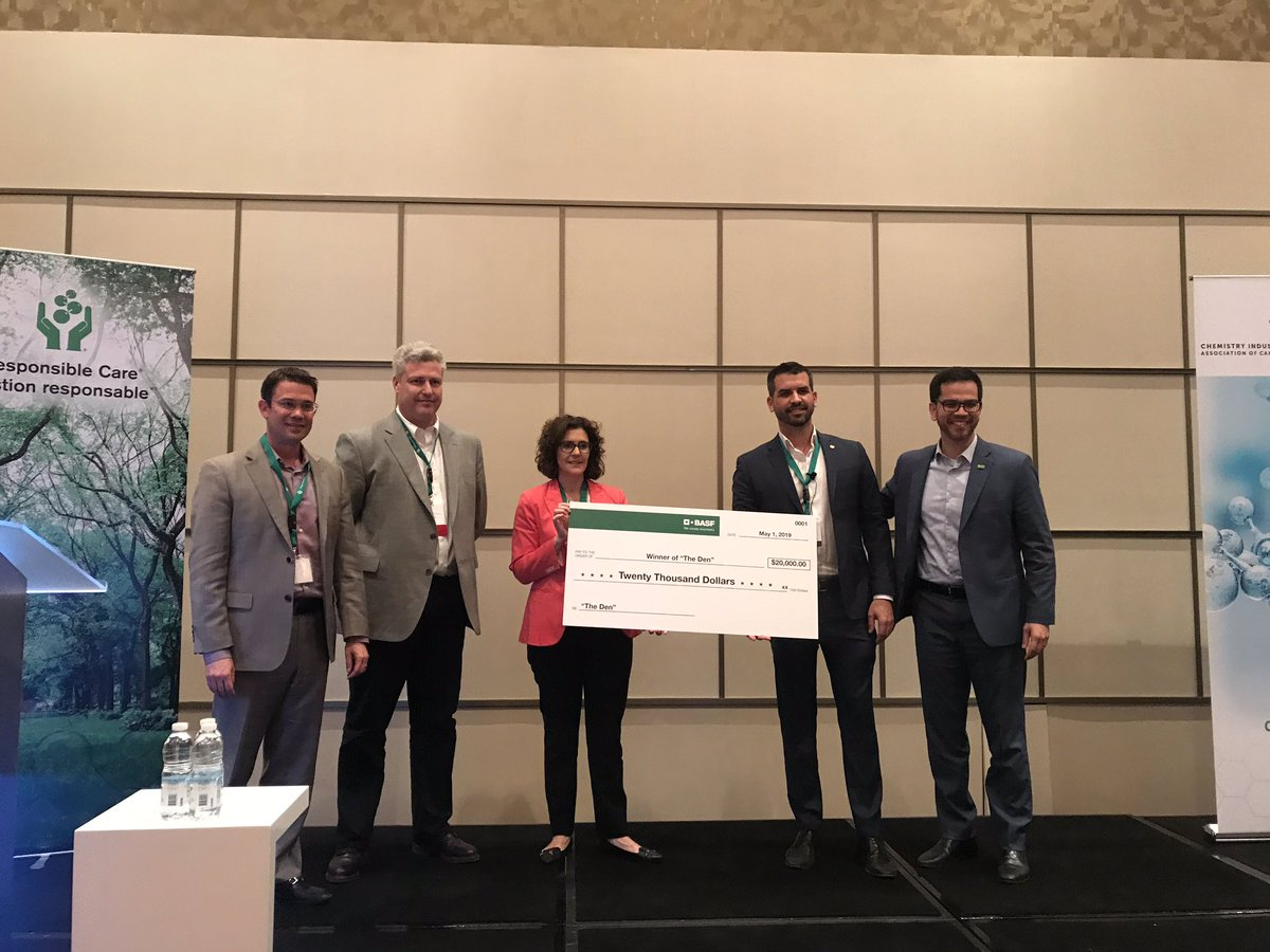 Congratulations to @Pyrowavetechno for winning The Den at the @ChemistryCanada #GoodChemistry2019 conference!