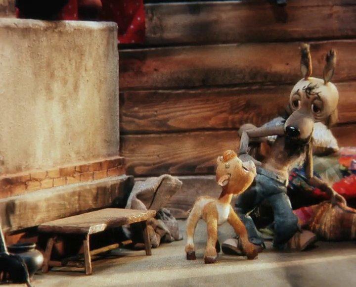 С сказку волк и теленок с картинками смотреть онлайн