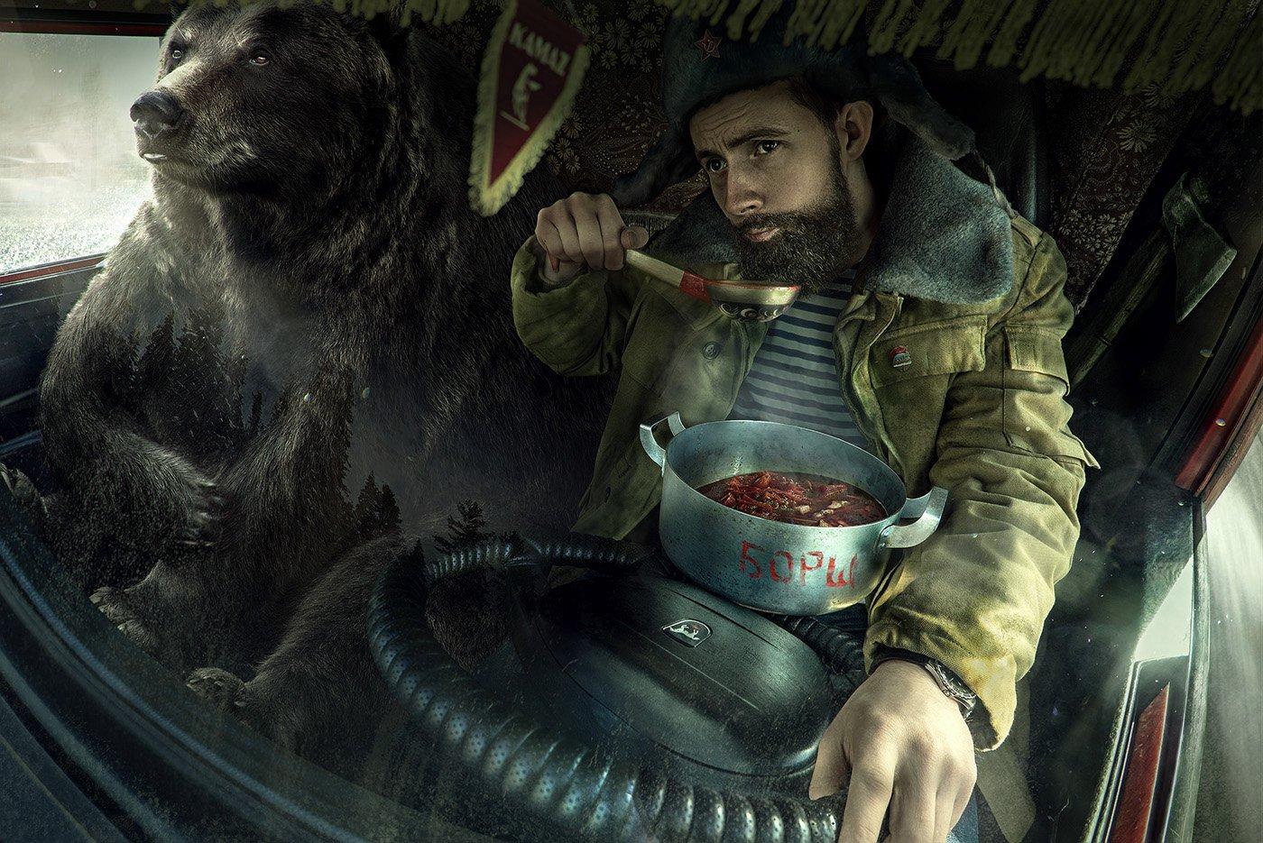 Музыкальный, прикольные картинки с русским медведем