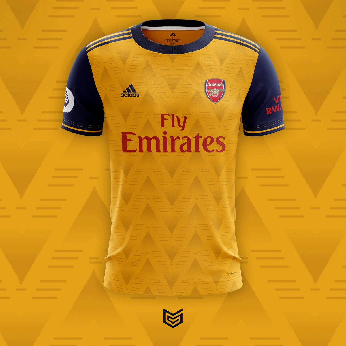 a62c1f3a149 Arsenal x Adidas 2019 20 Concept Away Kit Inspired by the famous   Bruised
