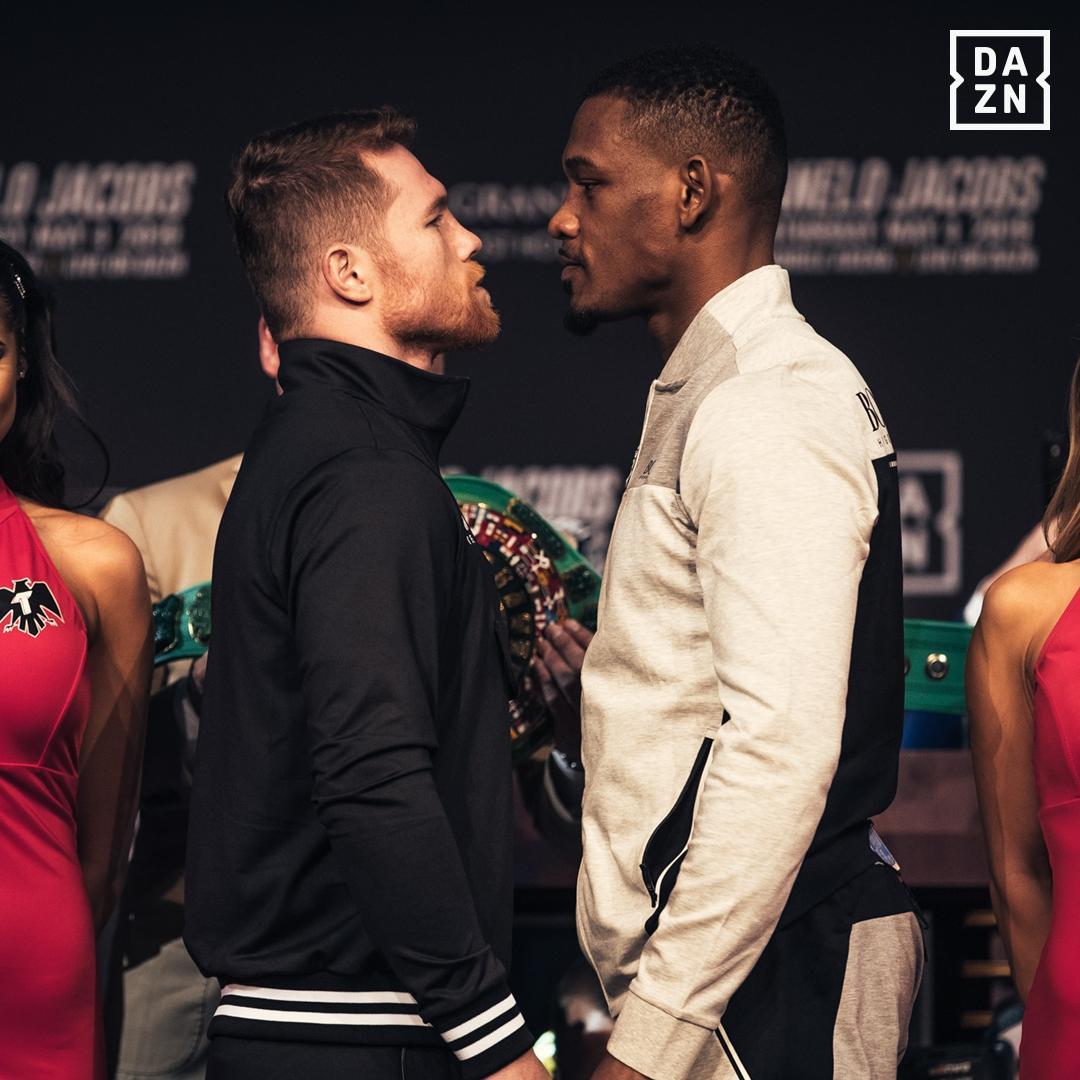 Boxeo: Daniel Jacobs no se deja apantallar por el físico de 'Canelo' Álvarez / @dazn_usa