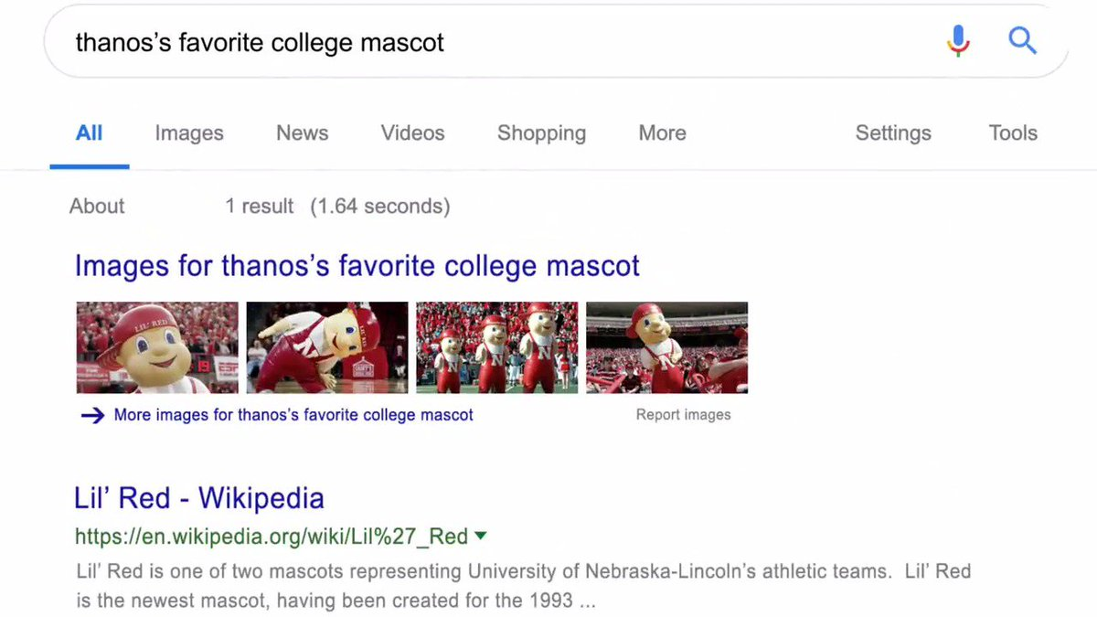 anyone tried the Thanos google search?  #Avengers #GBR