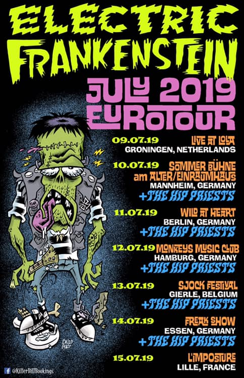 @efpunk EUROTOUR JULY 2019 With @thehippriests