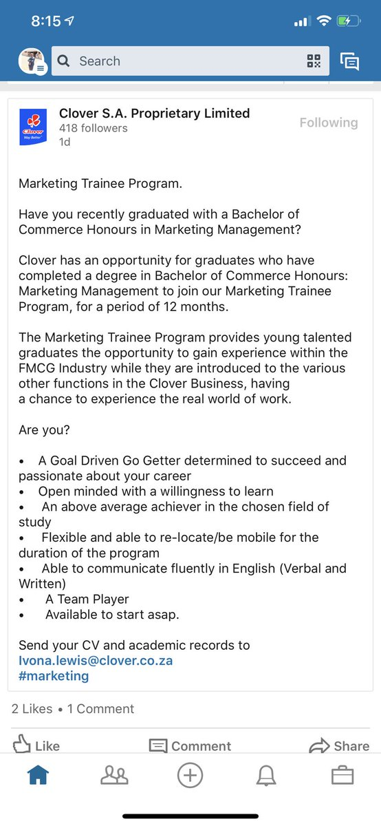 Marketing Graduates