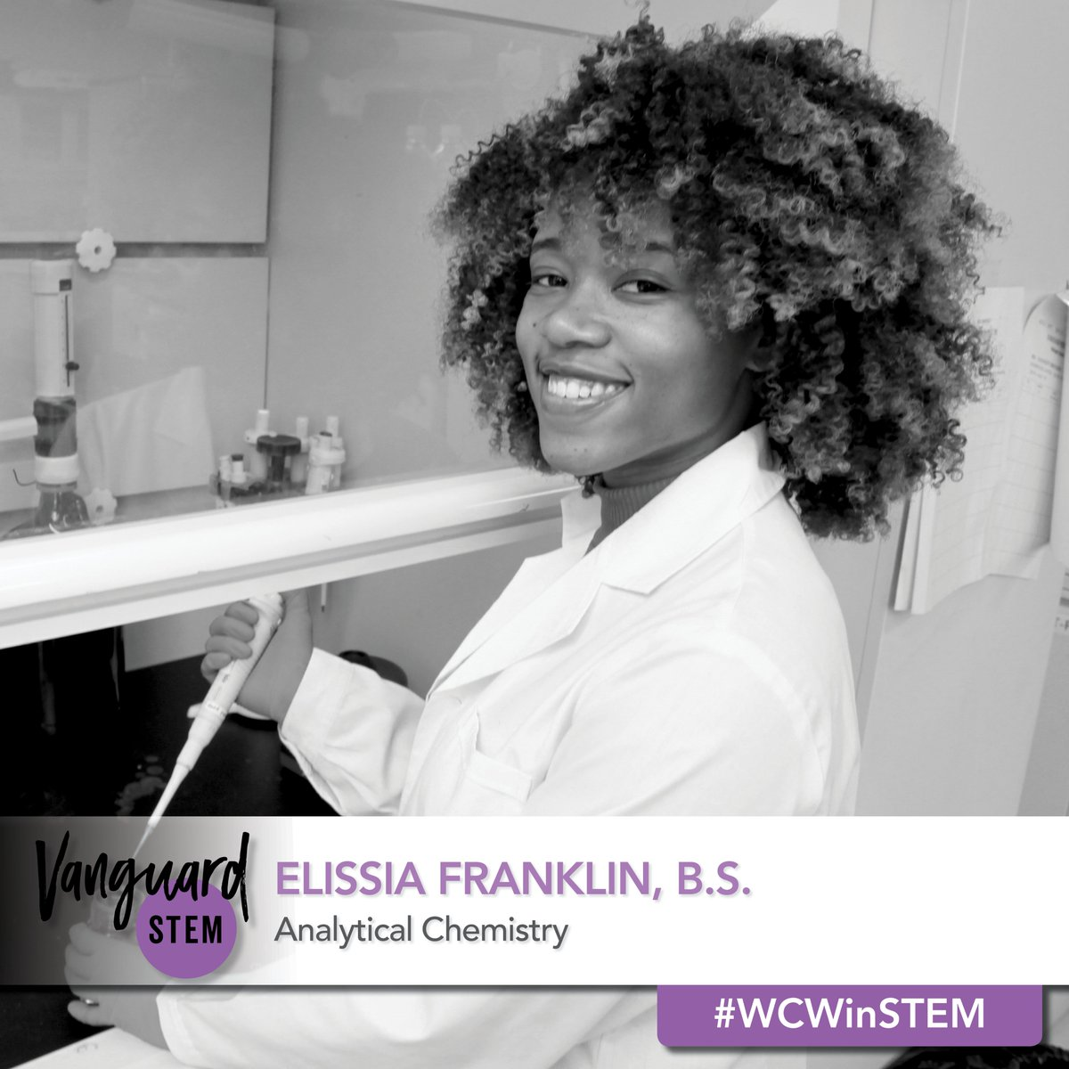 Our #WCWinSTEM, Elissia Franklin, is passionate about improving the understanding of health disparities faced by Black women which inspired her to start #TheResearchHer podcast, a podcast that helps breakdown and digest research relevant to Black women. https://conversations.vanguardstem.com/wcwinstem-elissia-franklin-b-s-139340def2a0…