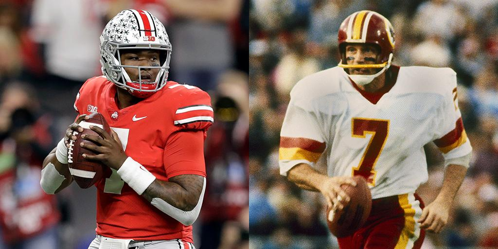 e1191f860 Redskins great  Theismann7 gives Dwayne Haskins blessing to wear No. 7  jersey  http   on.nfl.com lFlYGB pic.twitter.com tKWXf3Oxcg