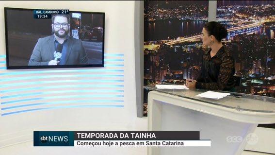 #SBTSantaCatarina   Me recuso a usar nome de telejornal em inglês como nesse caso!